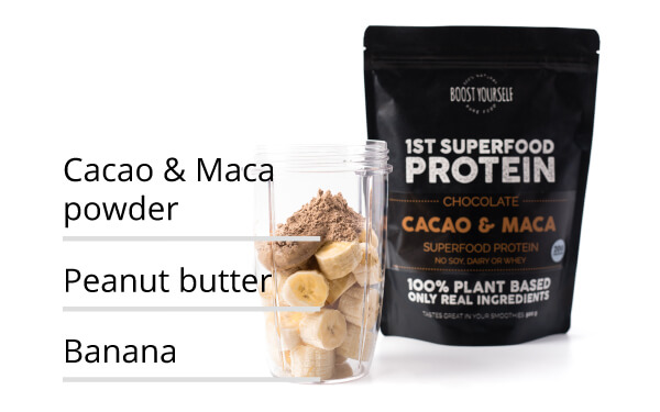 popular product Cacao & Maca superfood protein blend