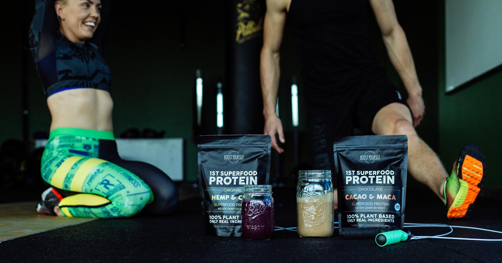 Cacao & Maca protein blend is great for post workout smoothie