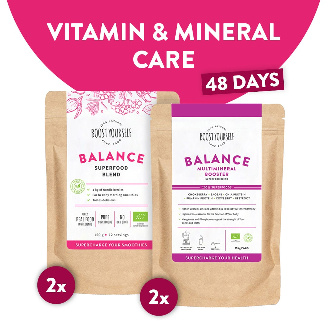 Vitamin and mineral care superfood blend